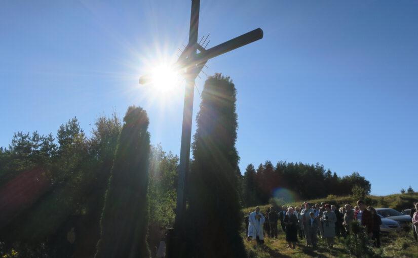 Poświęcenie nowego krzyża